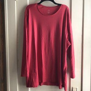 J. Jill Perfect Pima Long Sleeve Cotton Tunic